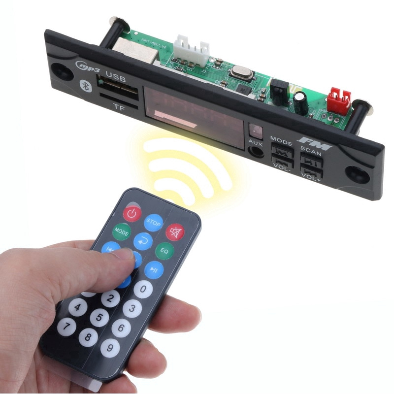 12V Car MP3 Decoder Board With Bluetooth With Remote Control