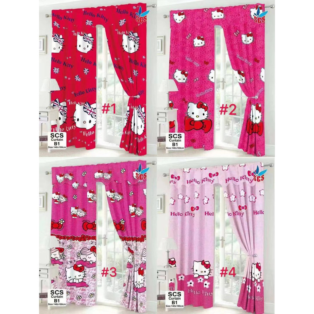 SCS B1 Hello Kitty No Ring Curtain