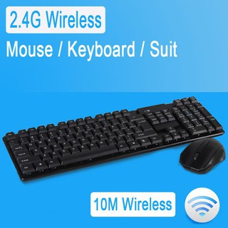 Black Computer Accessories Keyboard KM-909 2.4GHz Wireless Multimedia Keyboard Random Pen Mouse Color Delivery Wireless Optical Pen Mouse with USB Receiver Set for Computer PC Laptop
