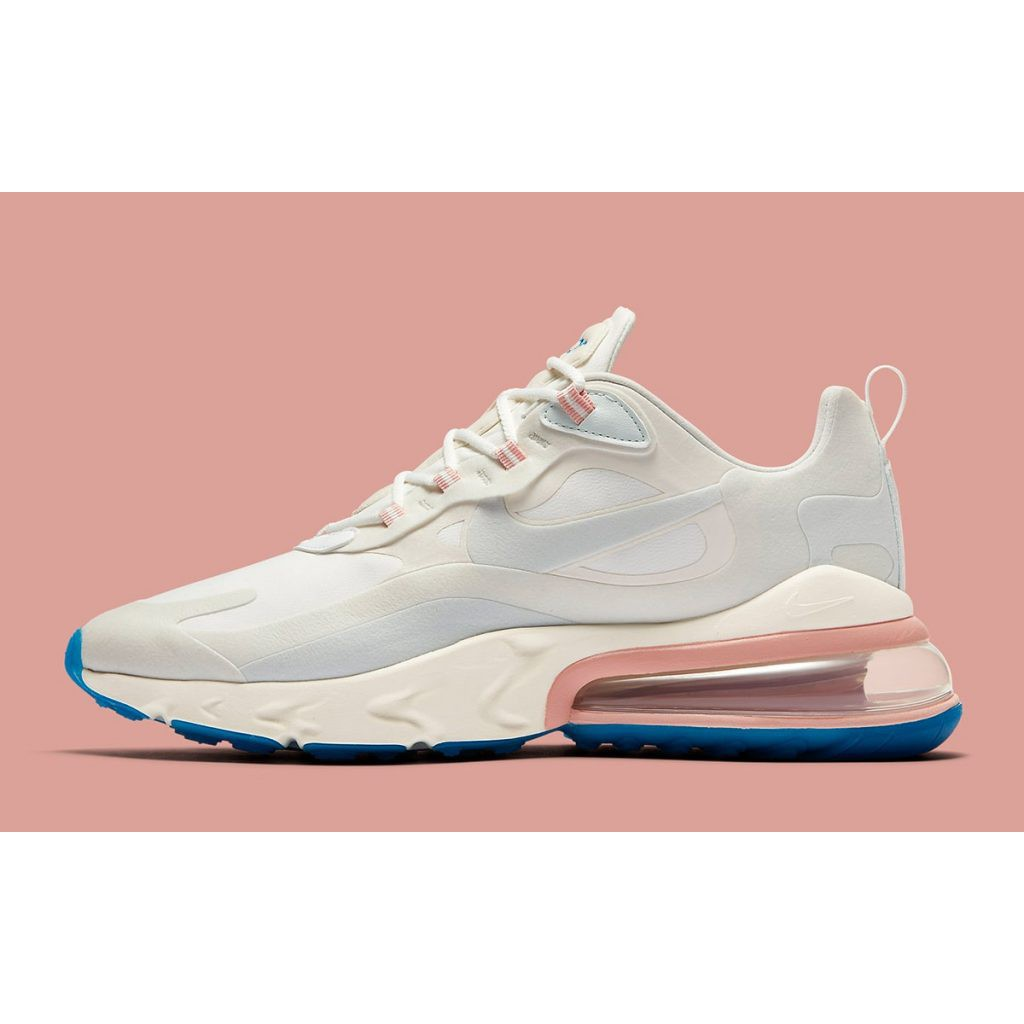 *100% Original*Nike Air Max 270 React White Off Pink Blue (OEM) Authentic Quality