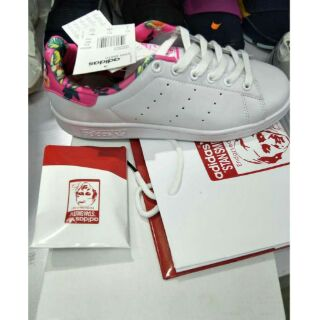 brand new 70ce4 36860 Adidas Stan Smith Authentic Release White/Floral