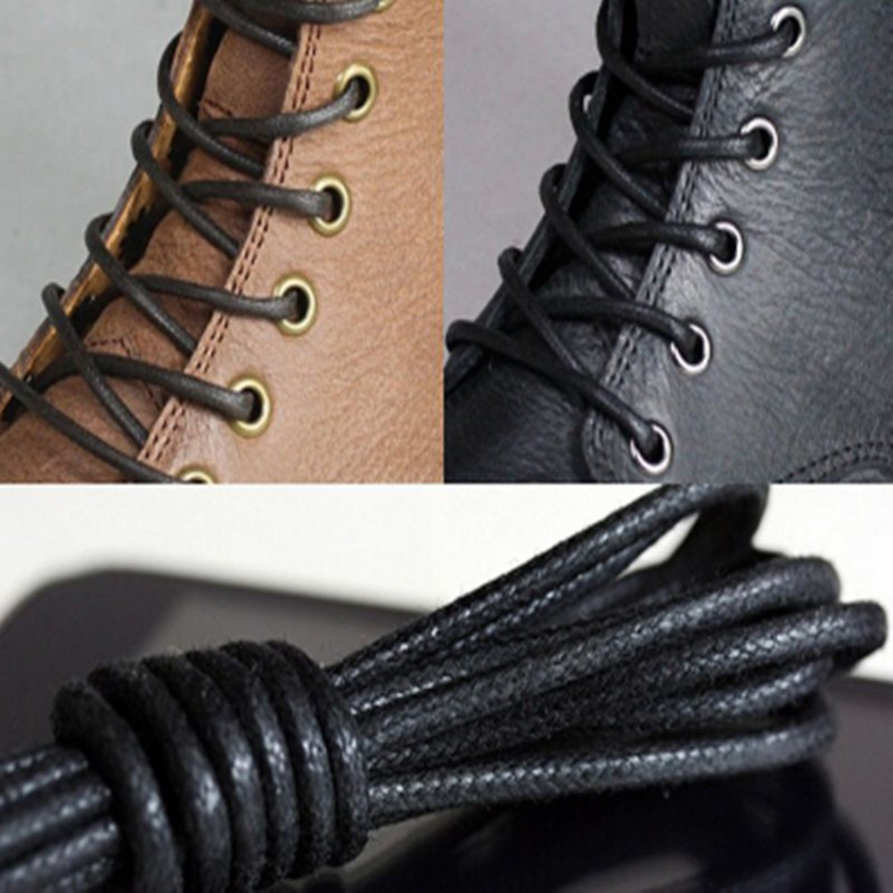 Waxed Round Shoe Laces Shoelace Bootlaces Leather Brogues  2fc10672e
