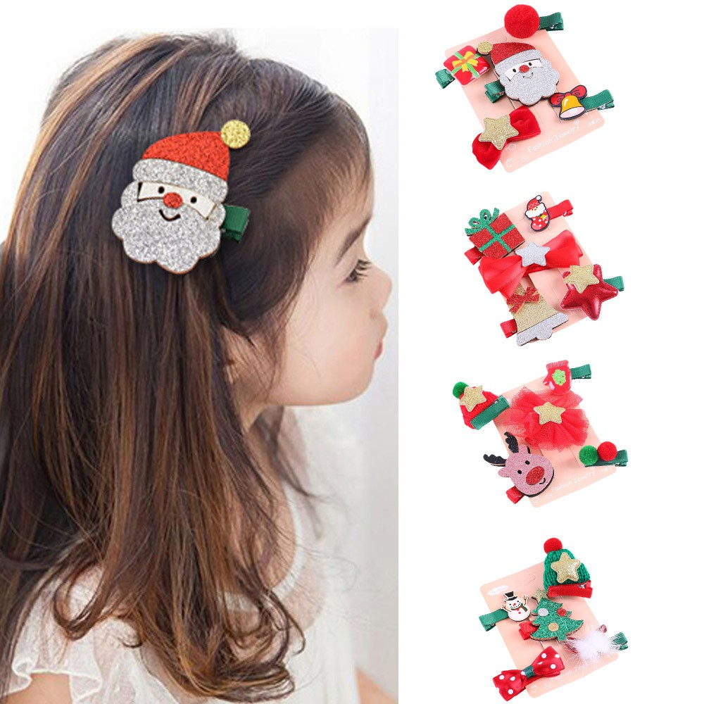 Handmade Christmas Tree Baby Kids Girls Hair Clip *one size fits all* NEW..