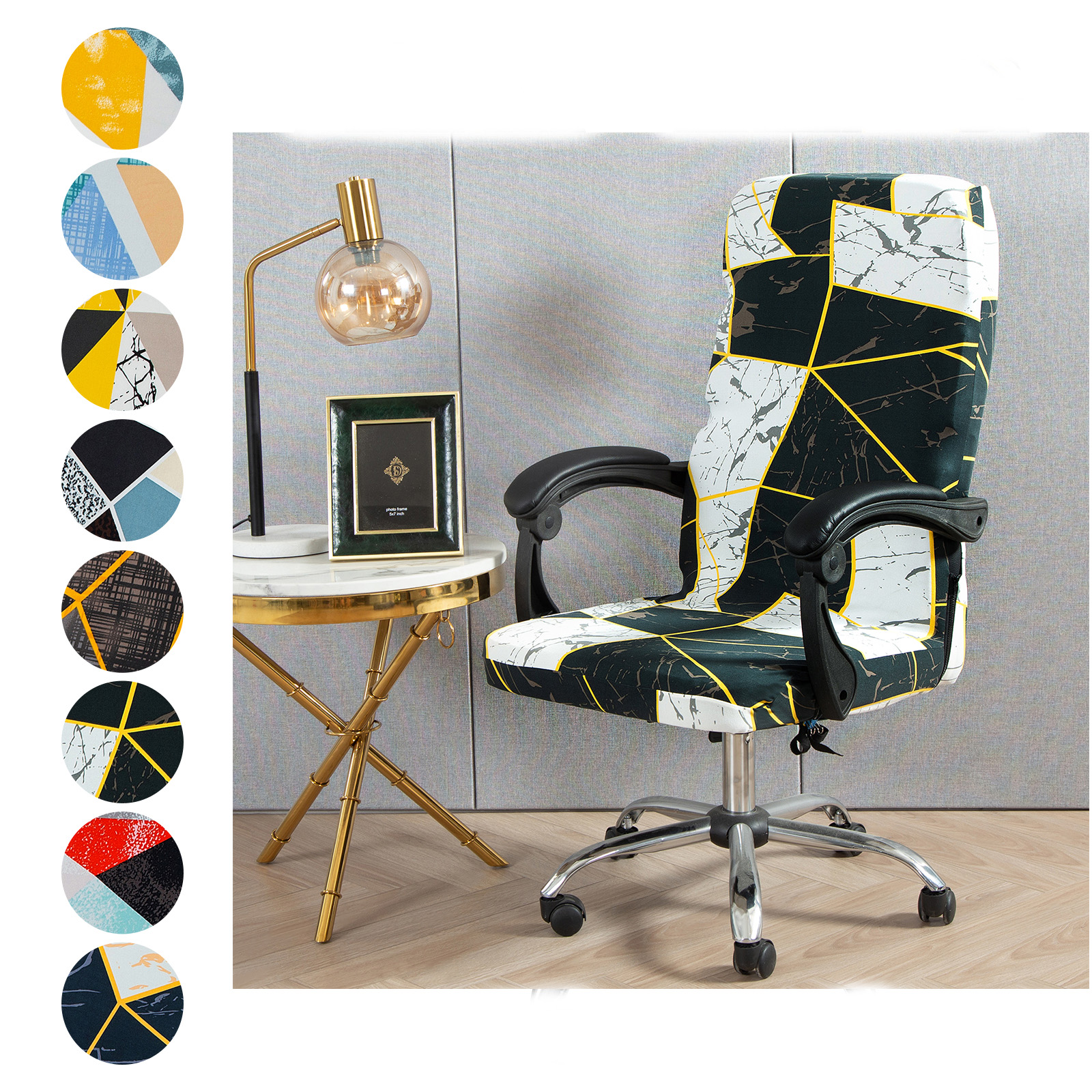 Modern Elastic Office Chair Cover Computer Chair Slipcovers Shopee Philippines