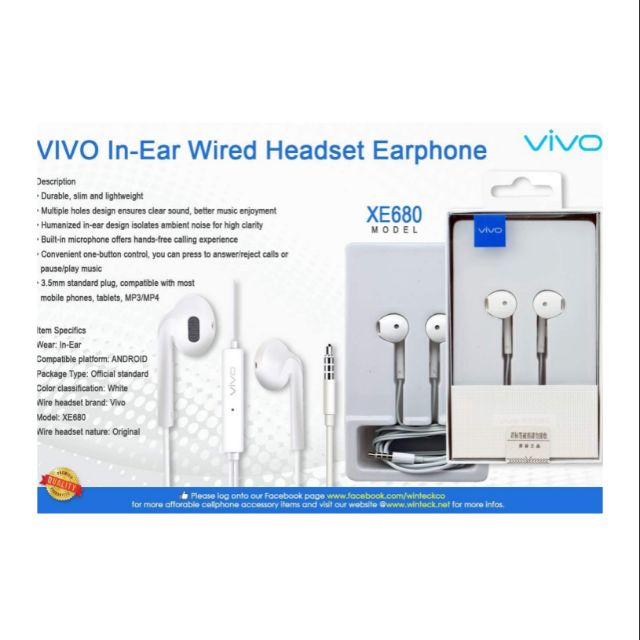 VIVO ORIGINAL HEADSET