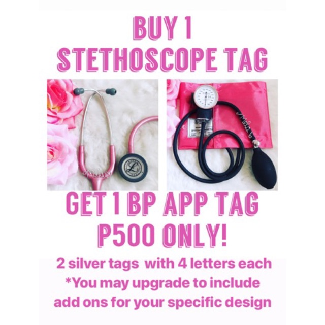 Stethoscope Name Tag & BP Apparatus Tag NAME TAG ONLY
