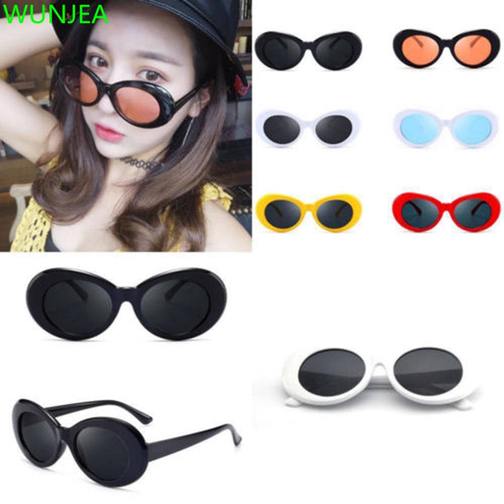 Clout goggles spiral side. Oval glasses grunge rapper