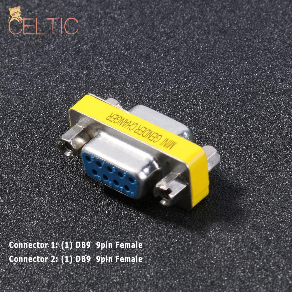 Serial RS-232 DB9 9 Pin Female to Female F//F Gender Changer Coupler Adapter CYC