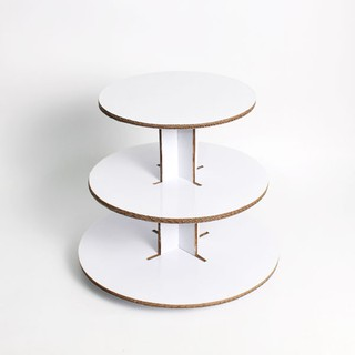 3 Tier Tower Diy Cupcake Tower Kit White