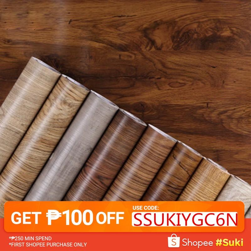 Self Adhesive Wallpaper Furniture Cabinet Wood Grain Sticker