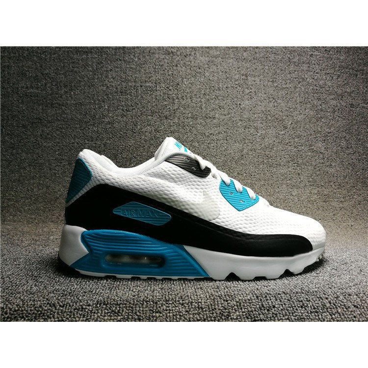 Ready Stock cod nike AIR MAX 90 ULTRA ESSENTIAL running shoes men's shoes white blue