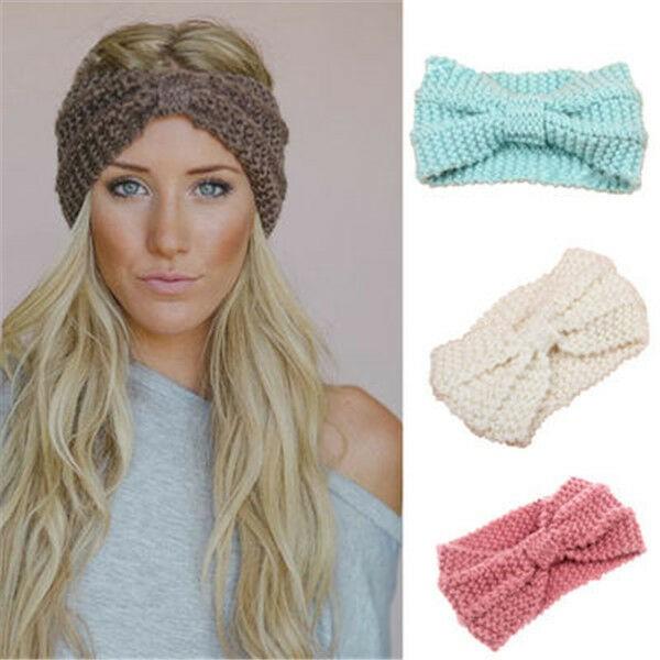 Dark Blue Ear Warmer Knit Headband Crochet Head Warmer, Blue Winter Headband Navy Blue Crochet Headband