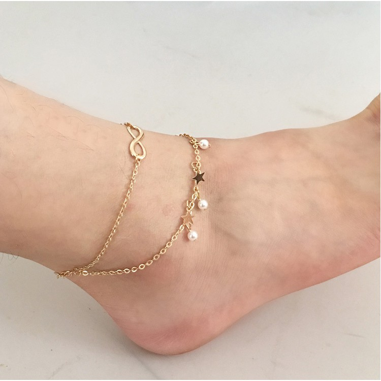f3027a9824b J039 Star Tassel Anklet Feet accessories Foot Jewelry
