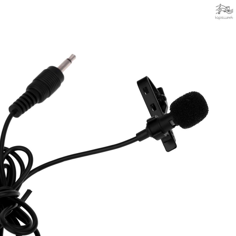 New Super Lapel Lavalier Tie Clip 3.5mm Metal Mono Microphone with Collar Clip