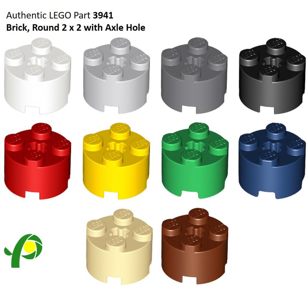 NEW 2x2 Orange Transparent Round Bricks LEGO 3941 10 Pieces Per Order