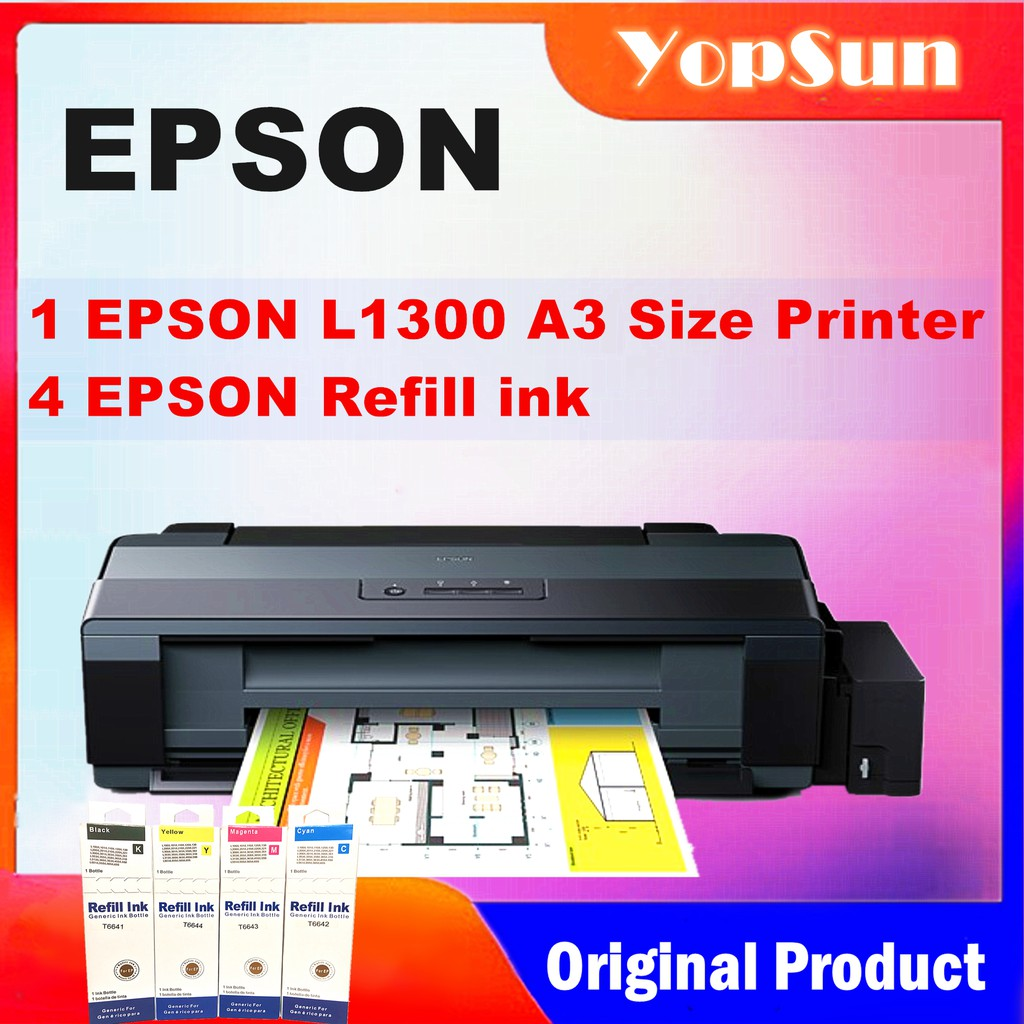 Epson L1300 A3 Size Ink Tank Printer With Refill Ink