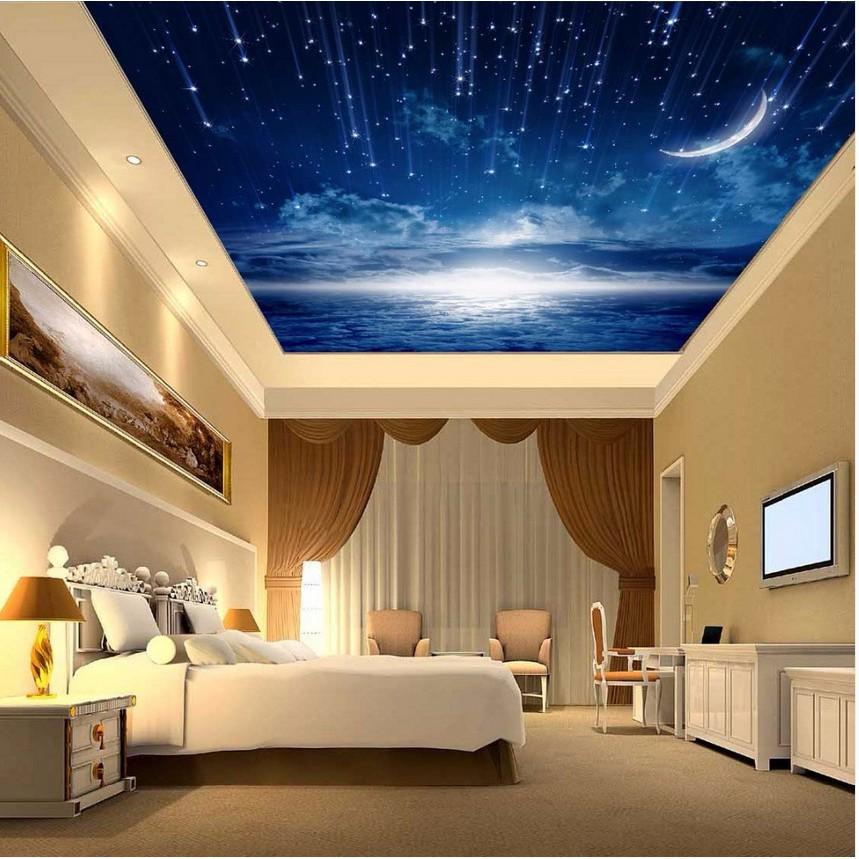 Cloud Night Sky Mural Ceiling Bedroom