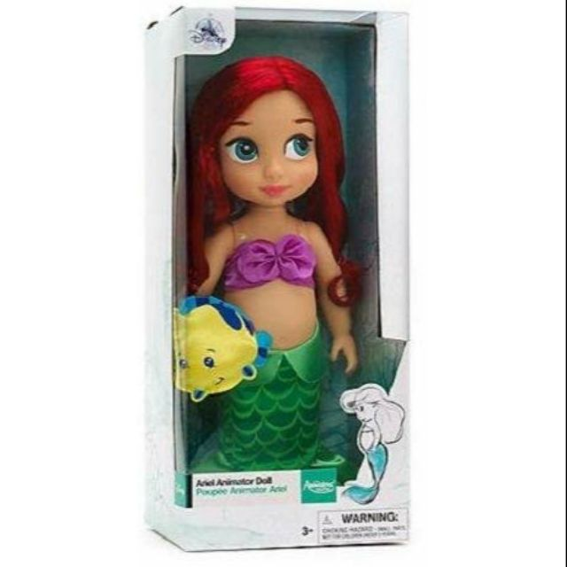 """Disney Authentic Little Mermaid Ariel Animators Collection Toddler Doll 16/"""" New"""