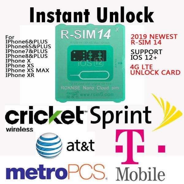 R-SIM 14 RSIM Nano Unlock Card for iPhone XS MAX/XR/XS/8/7/6 4G iOS 12