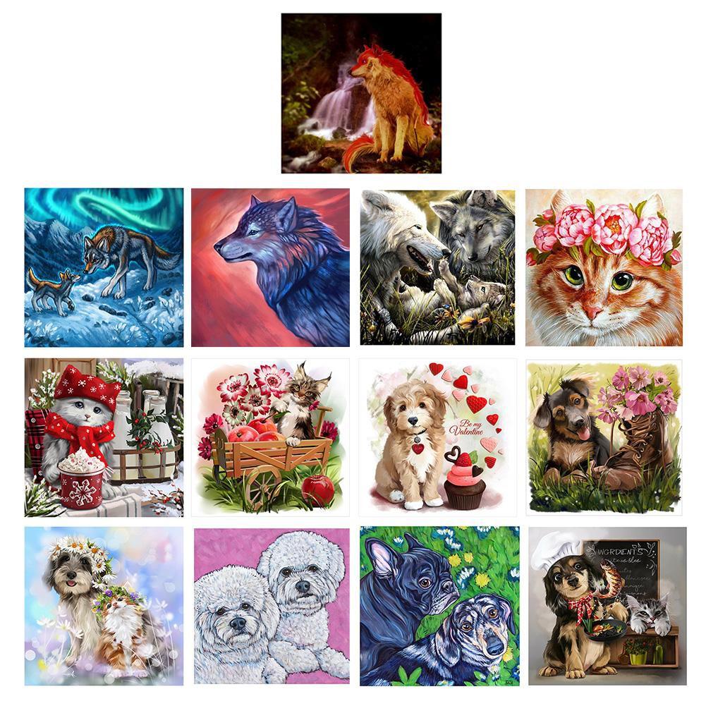 Pet Dog Full Drill DIY 5D Diamond Painting Embroidery Cross Stitch Kit Decor