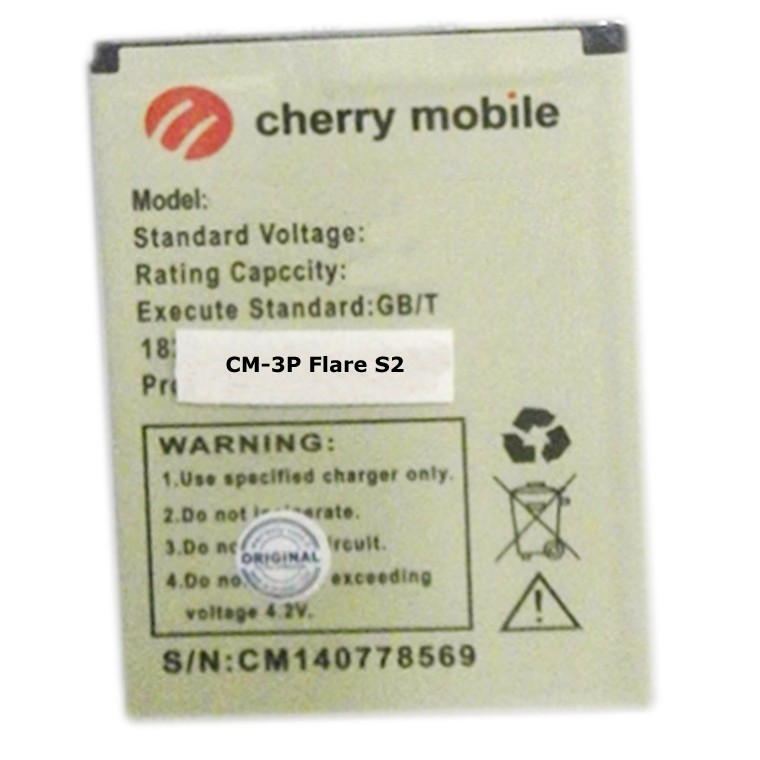 High Quality Battery For Cherry Mobile CM-3P Flare S2