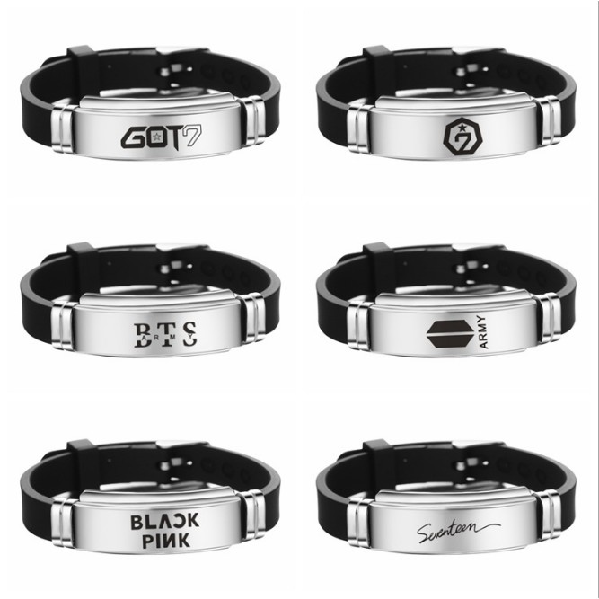 Kpop BTS Bangtan Boys Bracelet MONSTA X TWICE GOT7 Wristband Jewelry