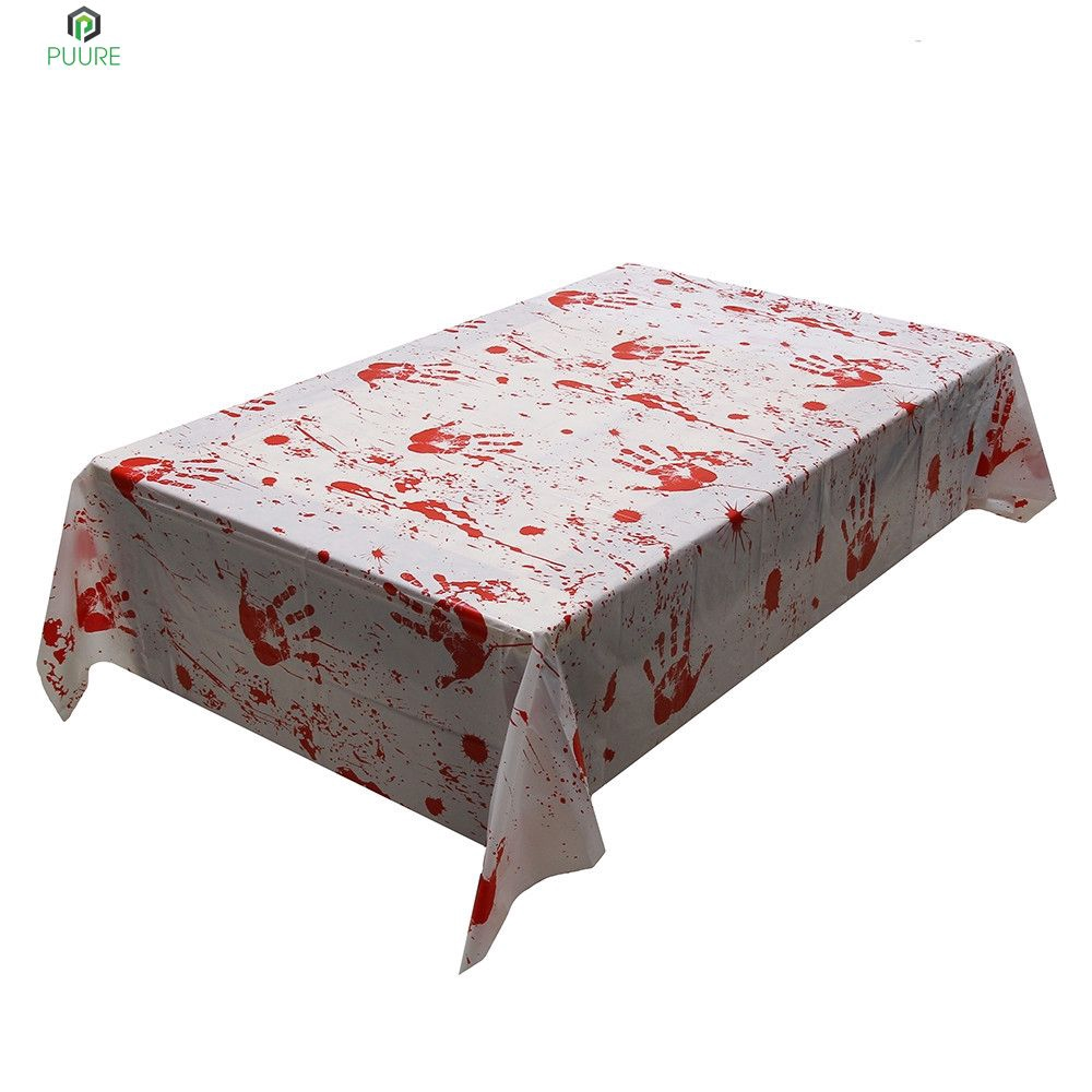【❥❥】 1pcs Halloween Tablecloth Cloth Party Decoration Table Cover Accessories Home Kitchen Party Supply 【PUURE】