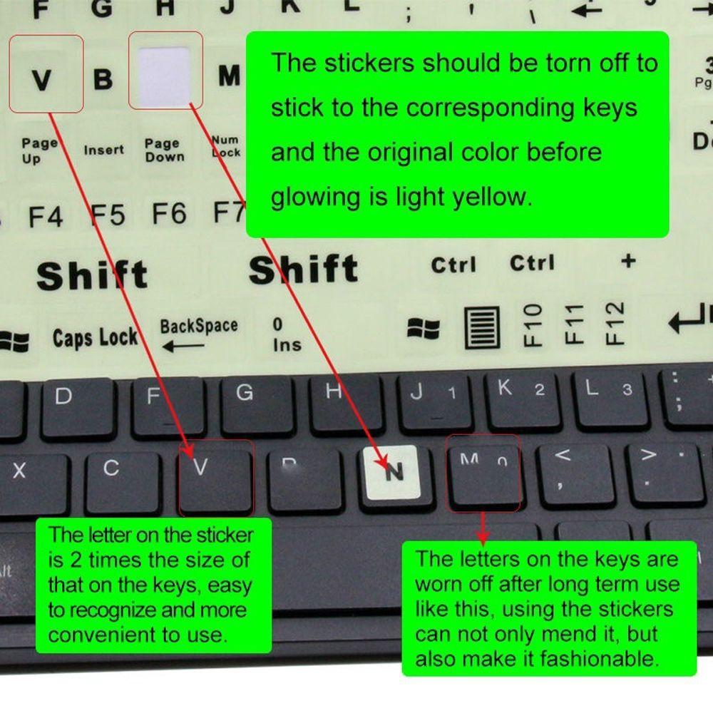 Full keyboard keyboard stickers large letter sticker fluorescence keyboard cover