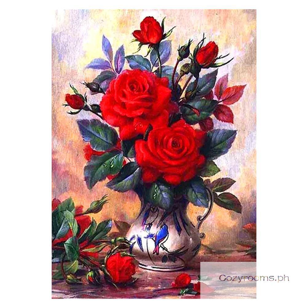 5D DIY Full Drill Diamond Painting Flowers Cross Stitch Embroidery Mosaic