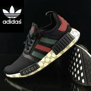 the latest 04f7d 5e749 Gucci x Zhuass*Adidas NMD-R1 Sneaker Shoes Black | Shopee ...