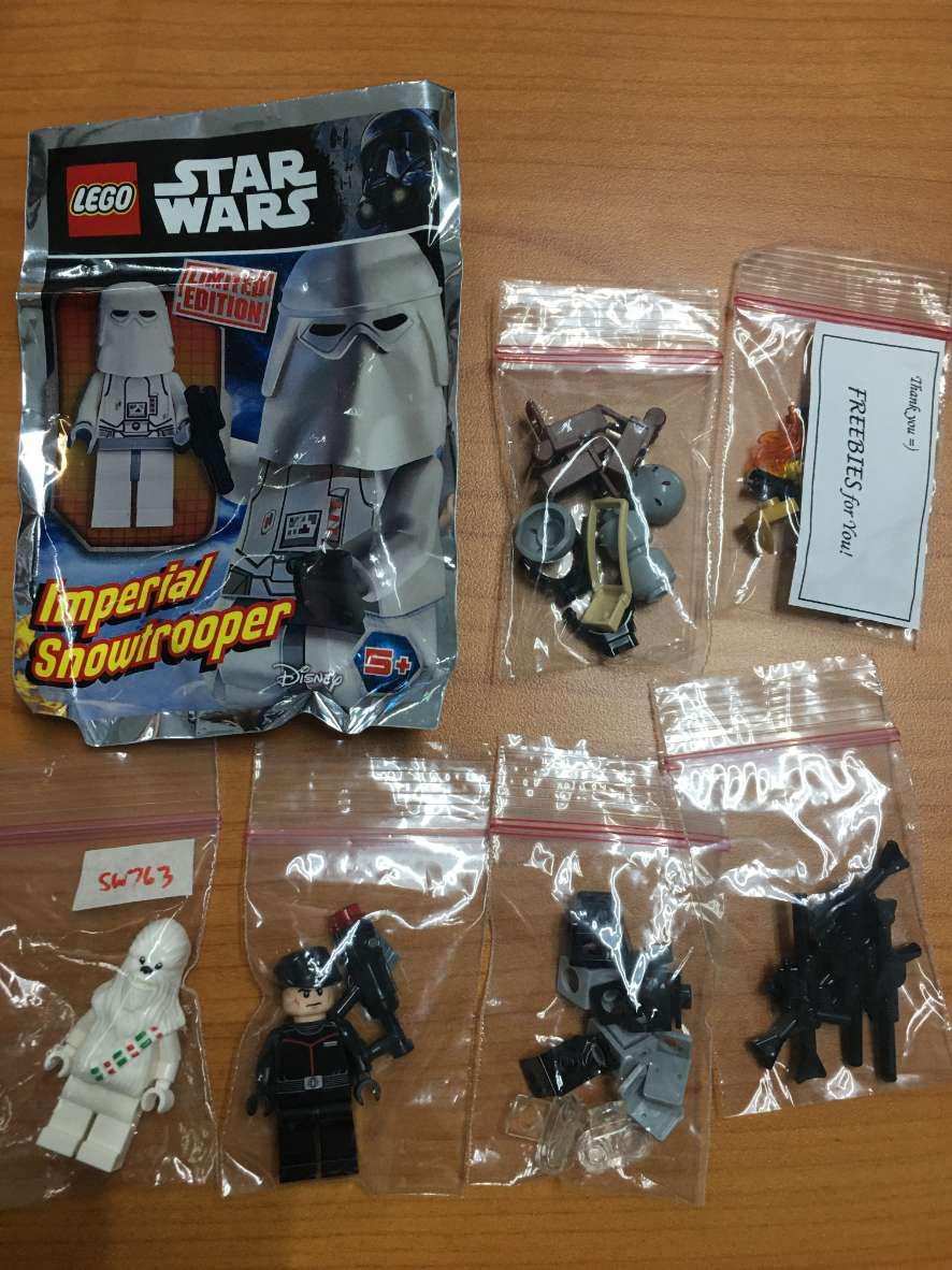 Lego Snow Chewbacca sw763 sw0763  minifigure Star Wars BRAND NEW SEALED