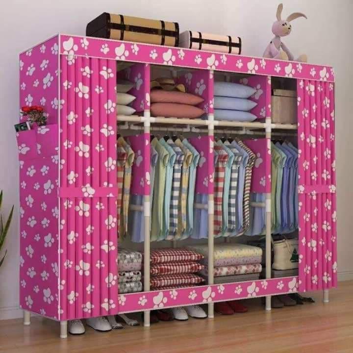 Portable Wardrobe Storage Oxford Cloth Closet Organizer