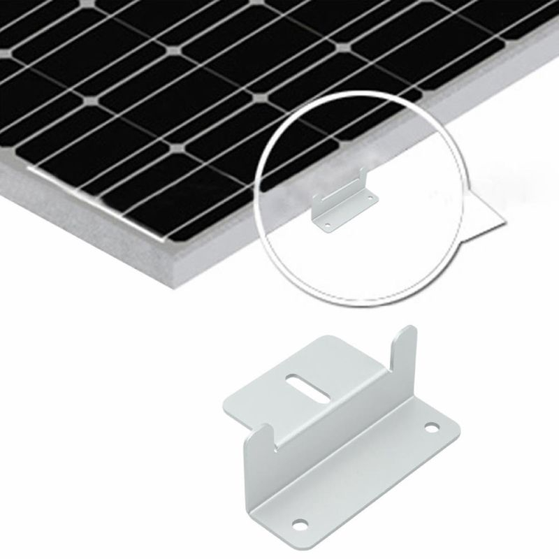 Solar Panel Mounting Bracket Aluminum Solar Panel Z Brackets Roof Solar Panel Bracket for RV Wall Set of 4 Units Boat Yacht and Other Off Gird Installation Silver Caravans