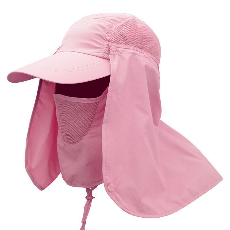 34fe3e40e14 MUE  Fishing Hiking Hat UV Protection Face Neck Flap Sun Cap ...