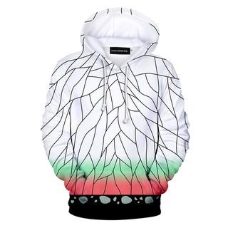 Kimetsu no Yaiba Sportswear Sweatshirts Top Fake Two Piece Hoodie Demon Slayer
