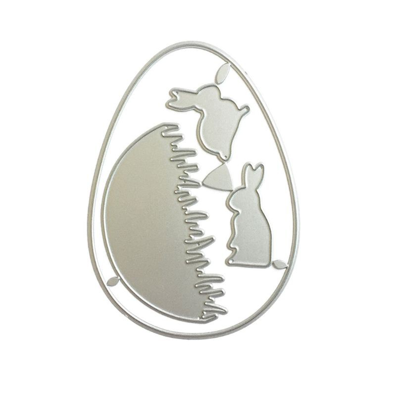 Bunny Rabbit Easter DIY Metal Cutting Dies Stencil Scrapbooking Stamp Card Decor
