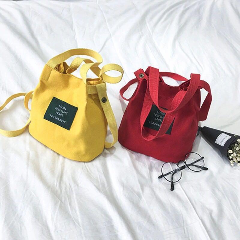 R&O #2372 Korean Style Canvas Mini Sling Bags