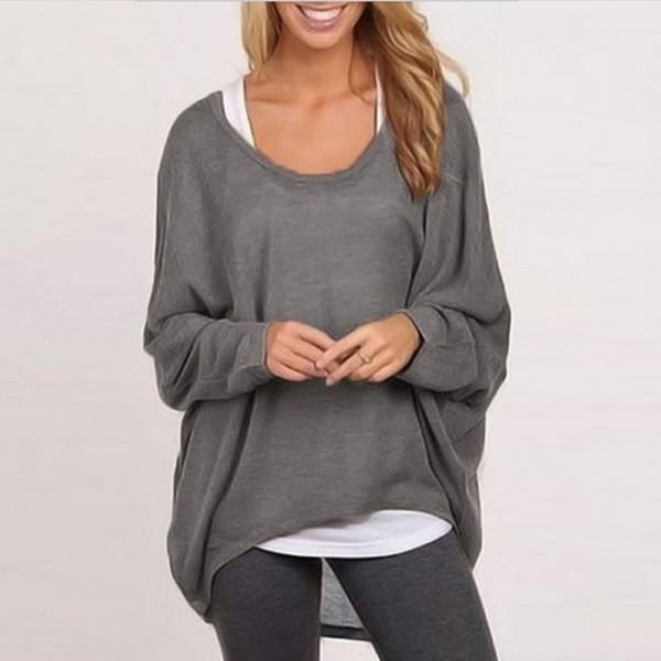 best website c6f5c 92f8a ZANZEA Women Long Sleeve Loose Loose Oversize Pullover Sweater Top  Blousezanzea_topfashion