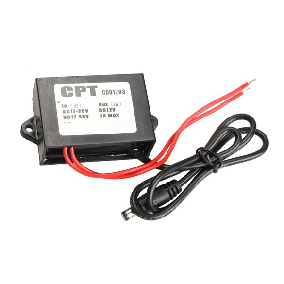 Power Converter AC 24V to DC 12V 3A Adapter for CCTV Camera