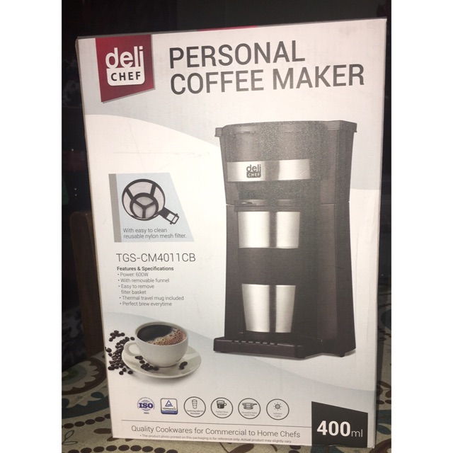 Deli Chef Personal Coffee Maker Pickup Only Shopee Philippines
