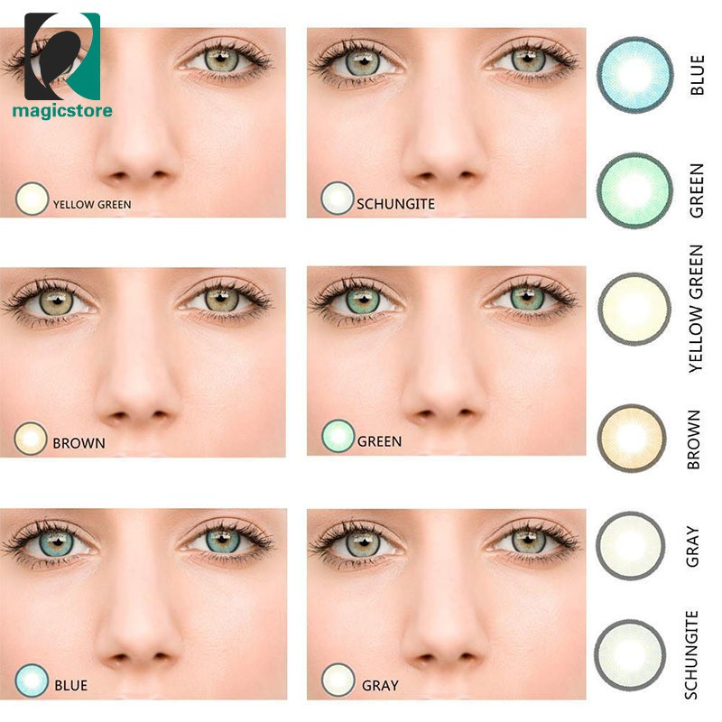 8735d5bb16 ProductImage. ProductImage. MS♂ 1 Pair Eyes Fresh Coloured Contact Lenses  ...