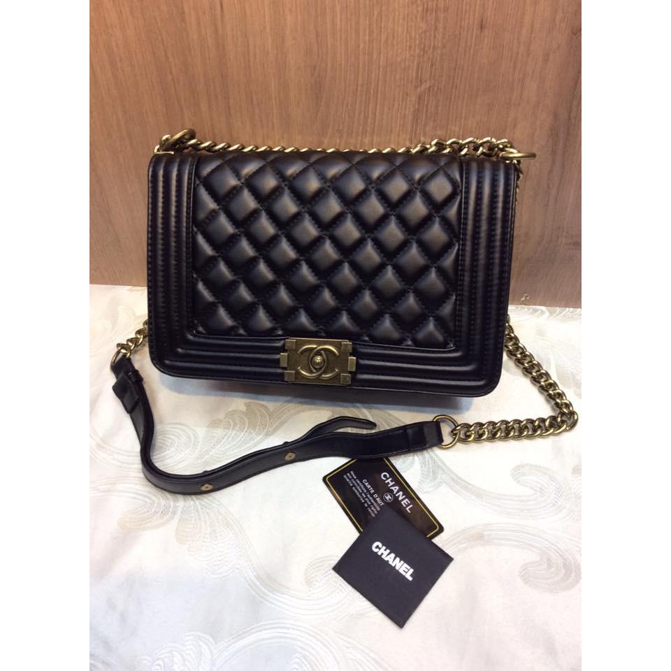 7d12d4addadf Chanel Le Boy Chevron Caviar Leather Old Medium Size Bag | Shopee  Philippines