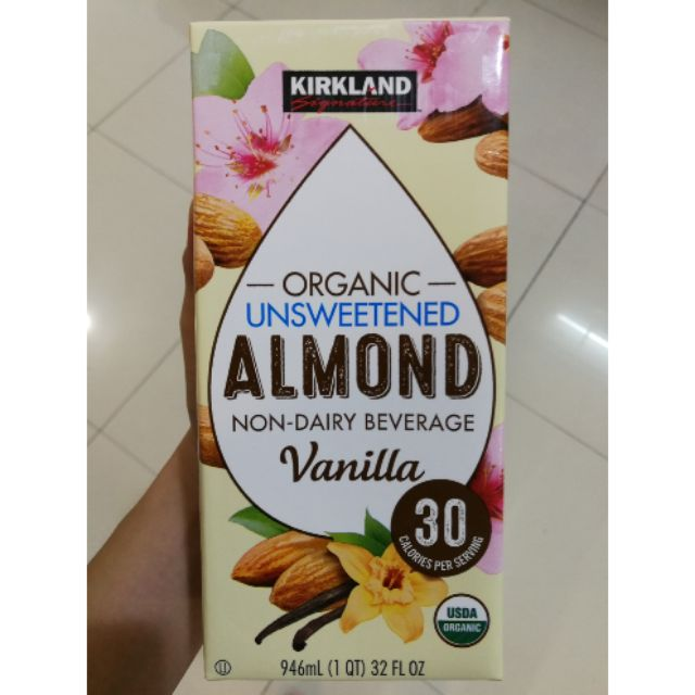 ORGANIC Kirkland Unsweetened Almond milk NEW STOCK USA