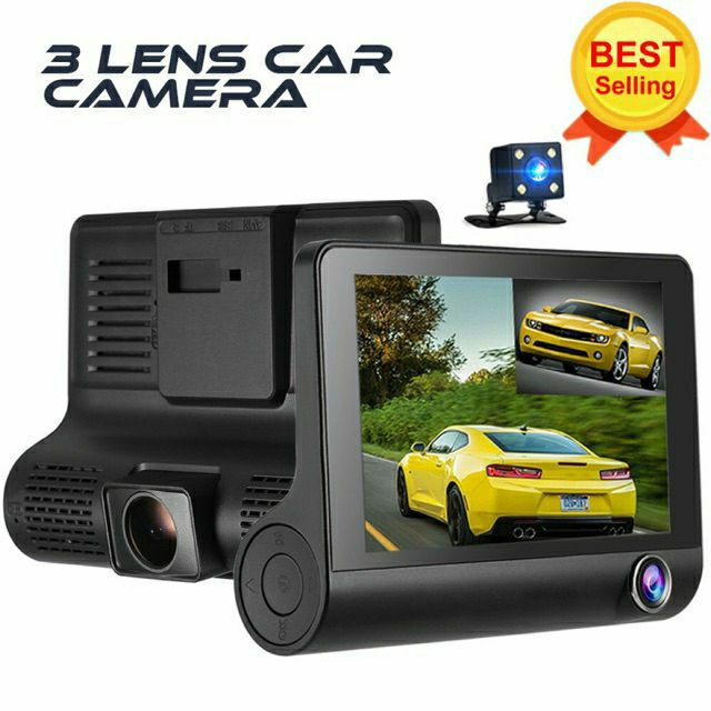 HD Night-vision 4 Inches Triple Lenses Car DVR Dash Camera