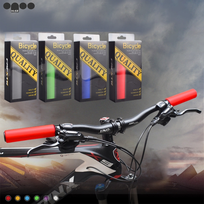 1 Pair Bicycle Handle Bar Grips Cover Mountain Bike Silicone Anti-Slip Handlebar