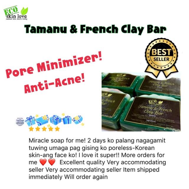 Tamanu & French Green Clay Bar | Shopee Philippines