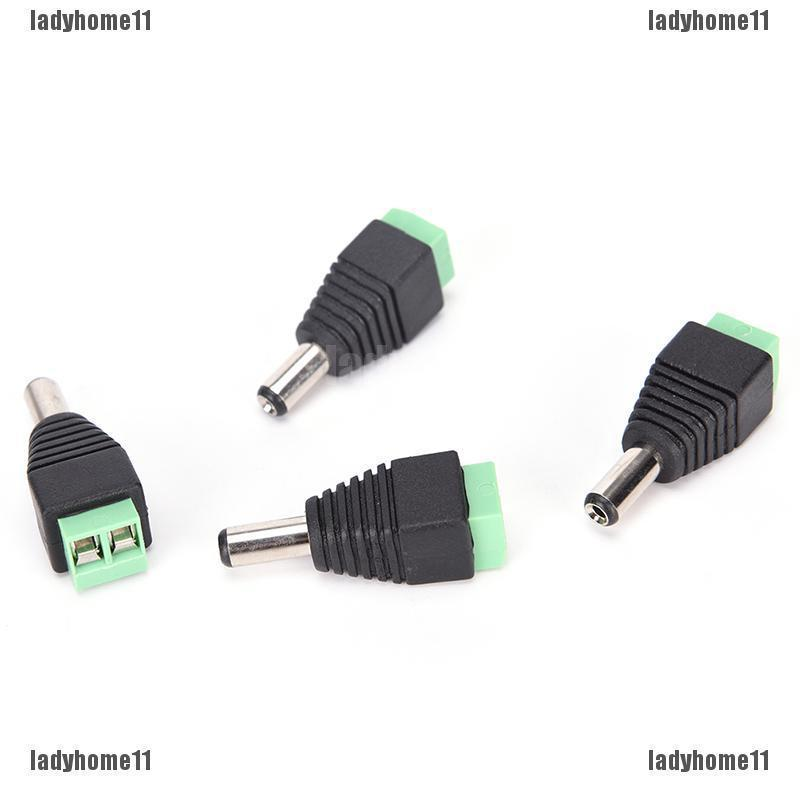 Pairs Male Female 2.1X5.5MM Dc Power Plug Jack Adapter 10 Connector For Cctv gs