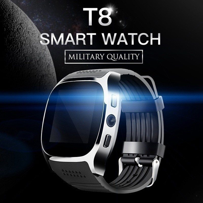 T8 Bluetooth Smart Watch With Camera Facebook Whatsapp Suppo