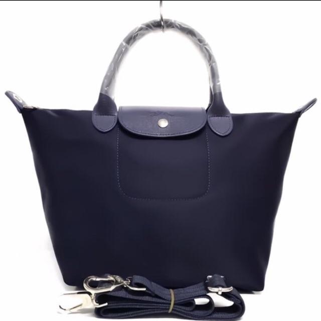 Longchamp Le Pliage Large Long Handle (Ultramarine Blue)  aaa3ed50cb243