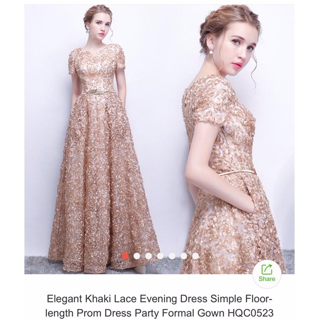 Women's Elegant Lace Evening Gown
